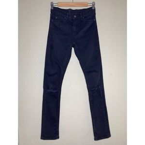 Cheap Monday Tight Rip Black Jeans